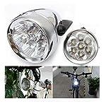 Zimo®Vintage Retro Bicycle Bike Front Light Lamp 7 LED Fixie Headlight with Bracket