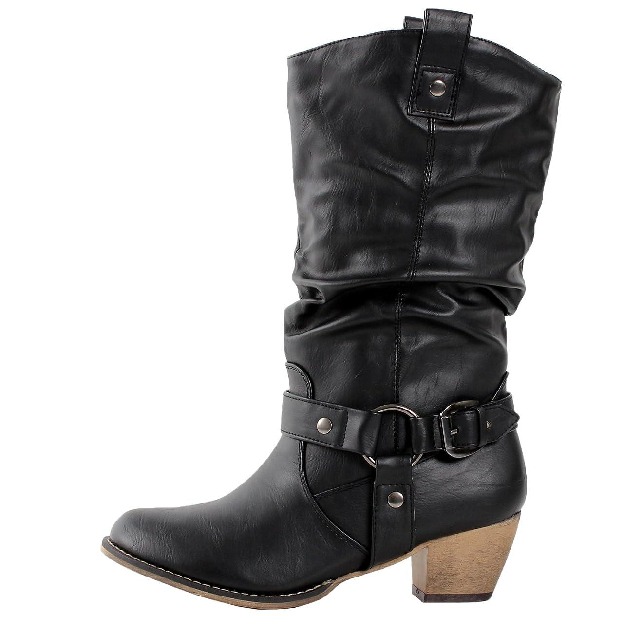 Refresh Women Wild-02 Western Style Cowboy Boots 1