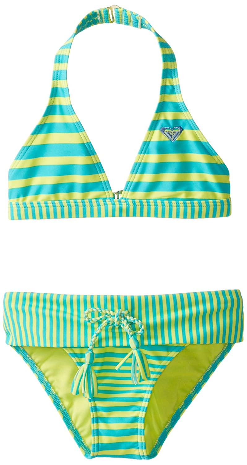 Roxy Big Girls' All Aboard Striped Halter Set roxy halter onepiece j pss0