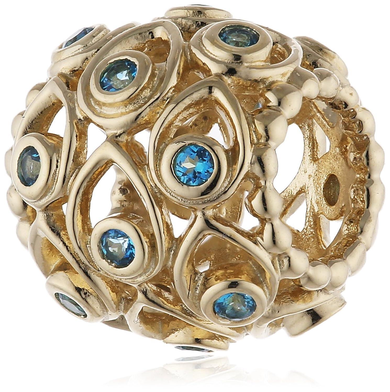Pandora Damen-Charm 585 Gelbgold Topas blau – 750817TPP günstig