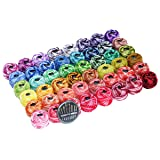 48 Cotton Crochet thread set Ball 5g per Balls Rainbow of Size 8 Perle pear and free 30 golden needles 48Balls (Color: 48 Ball Dyeing, Tamaño: 19×19×4cm)