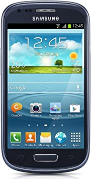 Samsung Galaxy S3 mini Smartphone débloqué 4 pouces 8 GB Android 4.1 Jelly Bean Bleu (import Europe)