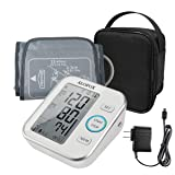 ALOFOX Blood Pressure Monitor Accurate Automatically Measure Pulse Diastolic Systolic Upper Arm Bp Machine for Home Use 2 User Mode with Large Cuff and 2x120 Sets Memory FDA Approved (Color: White+gray, Tamaño: large)