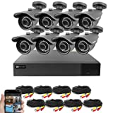 Best Vision 16CH 4-in-1 HD DVR Security Camera System (1TB HDD), 8pcs 1080P High Definition Outdoor Cameras with Night Vision - DIY Kit, App for Smartphone Remote Monitoring (Color: 4.0mm-4pack, Tamaño: 16CH+8Camera)