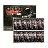 SoHo Urban Artist Oil Color Set - Artist Oils Butter Consistency, Excellent Pigment Load with Lightfast Results - Set of 24 Oils of Assorted Colors (Color: Assorted Colors, Tamaño: 21 ml Tube)