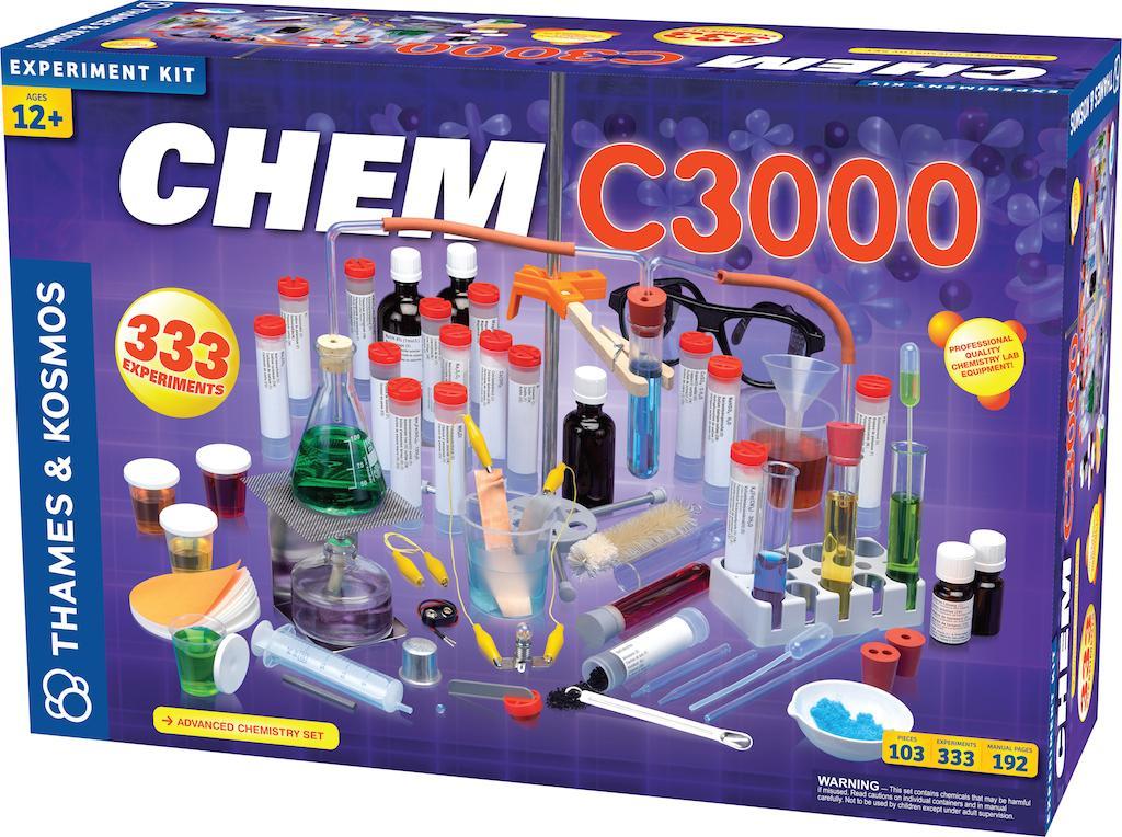 Amazon.com: Thames & Kosmos CHEM C3000 (V 2.0): Toys & Games