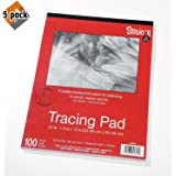 Darice 97490-3 Studio 71 Tracing Paper Pad, 25 Pound Light Weight, Medium Surface, 9 x 12 inches, 100 Sheets (5-Pack) (Tamaño: 5 Pack)