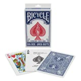 Bicycle 1039682 Big Box Playing Cards- Big Box Playing Cards, Blue (Color: Blue)