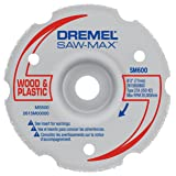 Dremel SM600 3-Inch Wood & Plastic Flush Cut Carbide Wheel (Color: Gray, Tamaño: Pack of 1)