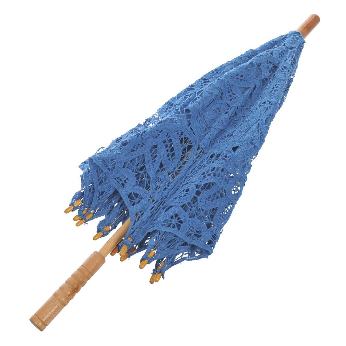 Remedios(19 colors) Vintage Bridal Wedding Party Cotton Lace Parasol Umbrella 4