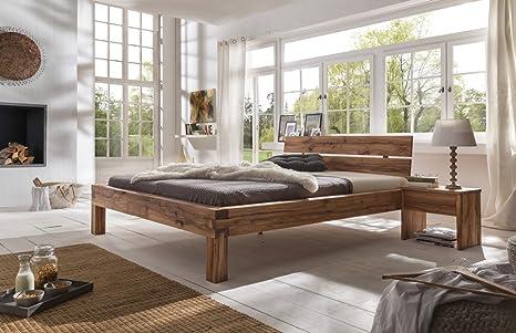 SAM® Massives Holzbett Bruno aus Wildeiche 140 x 200 cm