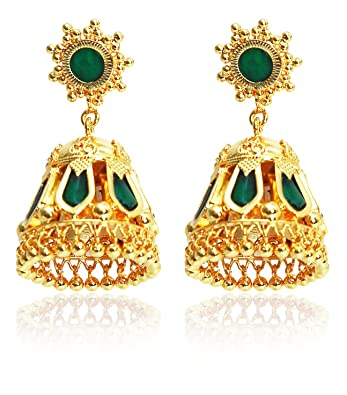Buy Kollam Supreme Gold Brass Jhumki Earrings for Women
