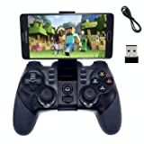 2.4G Wireless Bluetooth Android Game Controller,BRHE Mobile Gaming Controller Wired Gamepad for Android Phone, PS3, Tablet, PC Windows 7/8/10, Samsung Gear VR, SmartTV/TV Box – Black (Color: Black)