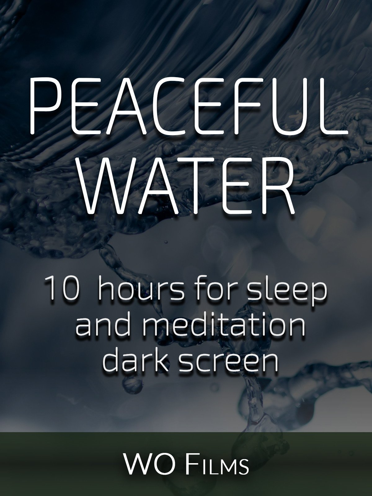 Peaceful water, 10 hours for Sleep and Meditation, dark screen
