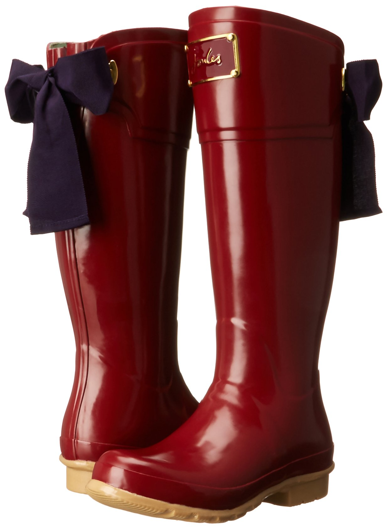 LOVE these Joules rainboots with bow detailing