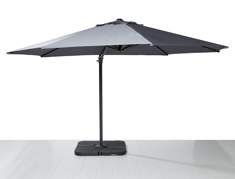 Ampelschirm Sonnenschirm Gartenschirm Kurbelschirm Terrassenschirm grau 350 cm online bestellen
