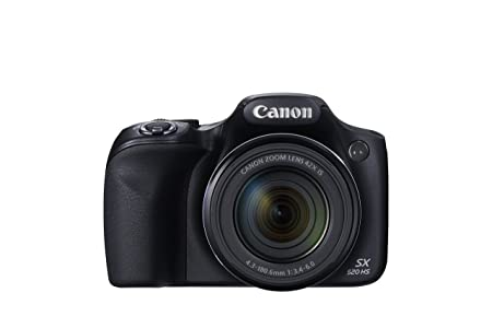 Canon Powershot SX520 Digital Camera 3.0in LCD 42x Optical Zoom 16MP Black Ref CAN2389