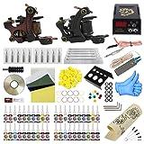 ITATOO Complete Tattoo Kit for Beginners Tattoo Power Supply Kit 40 Tattoo Inks 20 Tattoo Needles 2 Pro Tattoo Machine Kit Tattoo Supplies PX110016 (Tamaño: PX110016)