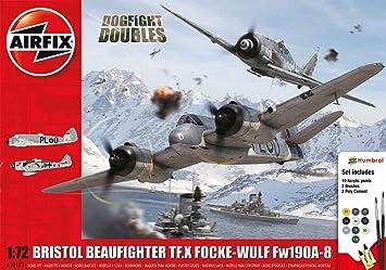 Airfix - Ai50171 - Coffret Dogfight Doubles - Bristol Beaufighter Mk.x Focke-wulf Fw190a-8 - 173 Pièces - Échelle 1/72