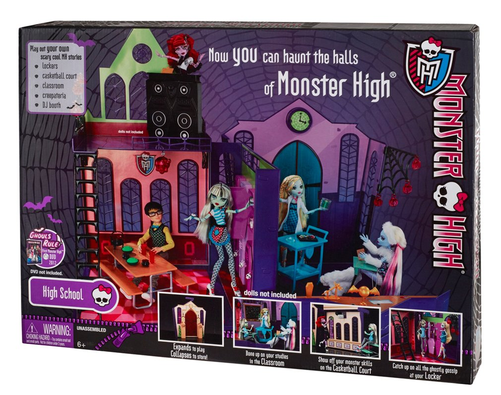 Kids Baby Monster High High School Playset