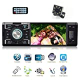 Bestree Single Din Car Stereo With Bluetooth FM Radio for Car and MP5 Player USB/SD/AUX/FM Receiver Wireless Remote Control (Color: black-5018, Tamaño: Medium)