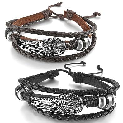 Huile essentielle Cuir Bracelet Diffuseur wristbadn Aromathérapie Rainbow Médaillon