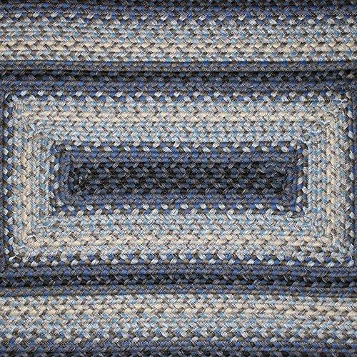 Homespice Rectangular Outdoor Braided Rugs, 4 by 6-Feet, Juniper