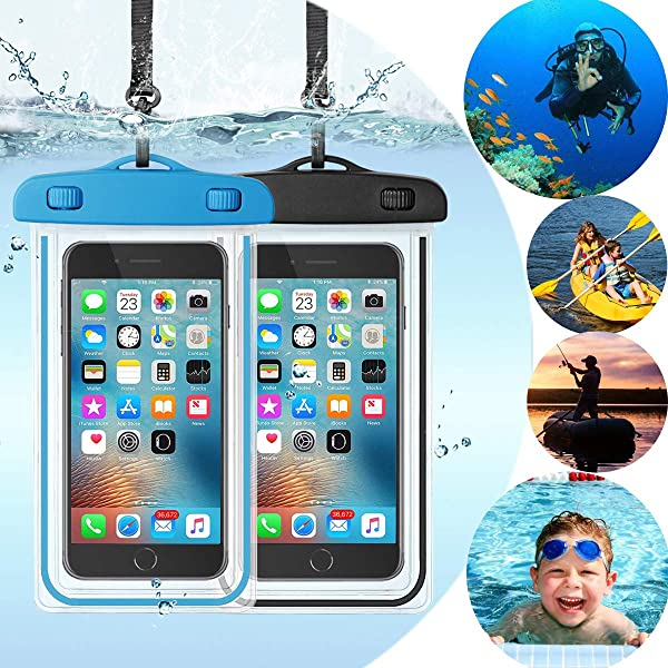 Cell Phone Dry Bag Up to 6.5 Inches for iPhone 11//11Pro//11Pro Max//X//8//7//6//Samsung Galaxy AOUTNEW Floating Waterproof Cell Phone Case Pouch Underwater iPhone Case Pouch Waterproof Cellphone Bag Pouch