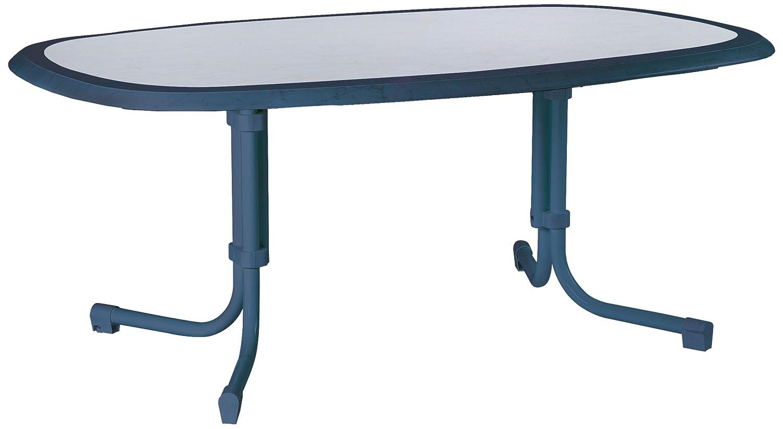 BEST 26531420 Tisch Boulevard oval 146 x 94 cm, blau günstig online kaufen