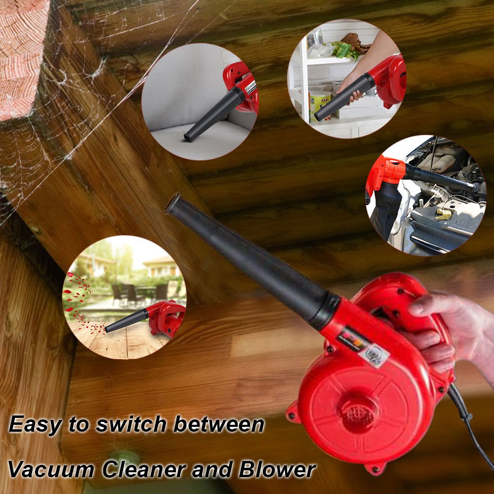 Homdox 600W Electric Leaf Blower Vacuum Handheld Dust Blower for Shop Garage Garden-16,000 RPM