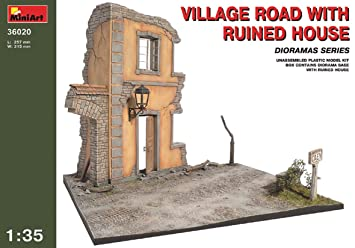 Mini Art 36020 Village Road with Ruined House 1:35 Plastic Kit Maquette