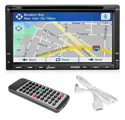 """Lanzar SNV695N 6,95 """"Double DIN Écran vidéo DVD/MP4/MP3/CD avec GPS Bluetooth mains libres"""