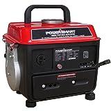 PowerSmart PS50 1000W 2 Stroke Manual Start Portable Generator, Red/Black (Color: Red/Black)