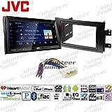 Volunteer Audio JVC KW-V350BT Double Din Radio Install Kit with Bluetooth, Sirius XM Ready, DVD/CD Player Fits 2007-2013 Suzuki SX4