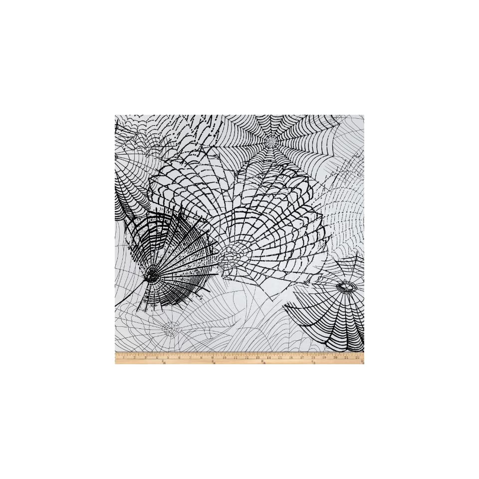 Kanvas Spooktacular Spider Web White Fabric