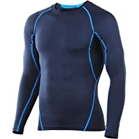 4ucycling Compression Breathable Sleeves Fit Tight Shirt (Blue or Black)