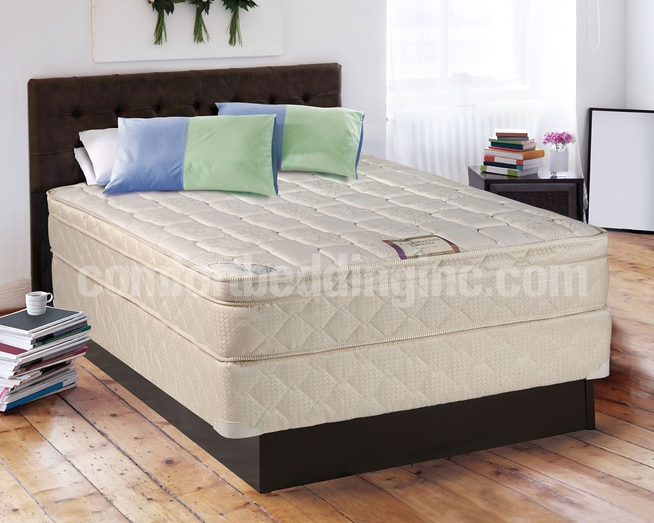 "Buy Luxury Plush Firm Quilted Top 13"" Foam Encased Innerspring Mattress - Full With 8"" Box Foundation"