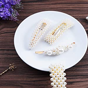 20Pcs Pearls Hair Clips for Women Girls, Hairpins, Headwear Barrette, Fashion Sweet Artificial Pearl Barrettes, Styling Tools Accessories for Holiday/Party/Wedding/Daily Life, Nice Gifts