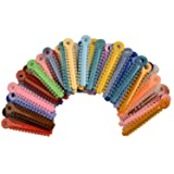 AZDENT® Dental Ligature Ties for Orthodontic Treatment(1014pcs,Multicolored) (Color: Multi-colored)
