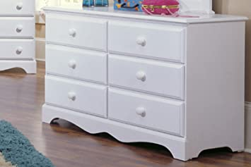 Carolina Furniture 415600 Cottage Double Dresser Furniture In White