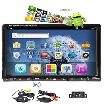CamšŠra sans fil Android 4.2 OS DVD de voiture Navigation Joueur 2 Din GPS audio stšŠršŠo CamšŠra libre Bluetooth intšŠgršŠ FM / AM RDS Radio