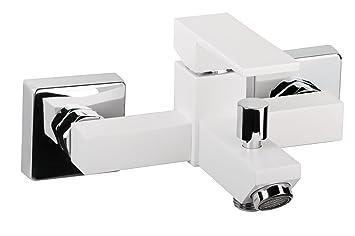 aquasu mitigeur monocommande pour pour baignoire blanc bricolage m369. Black Bedroom Furniture Sets. Home Design Ideas