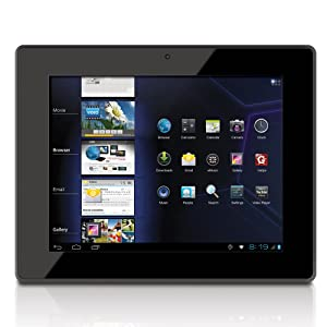 Tablet  Coby Kyros 8 pulgadas Pantalla táctil capacitiva multi-Internet Android 4.0 4 GB 04:03  con cámara integrada, Negro MID8042-4
