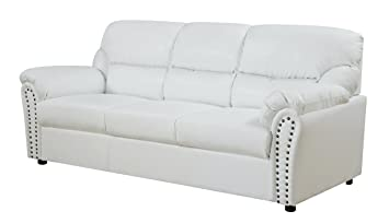 Glory Furniture G267-S Living Room Sofa, White