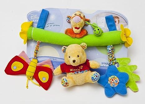 JoyToy Winnie l'Ourson 800204–JoyToy Winnie et Tigrou Parure de Berceau et poussette jouet 27cm