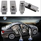 4PCS LED Door Step Courtesy Light Welcome Light Laser Shadow Logo Projector Lamp For BMW 1-Series E82 E87 F20 3-Series E90 E91 F30 5-Series E60 E61 F10 CNAutoLicht #1