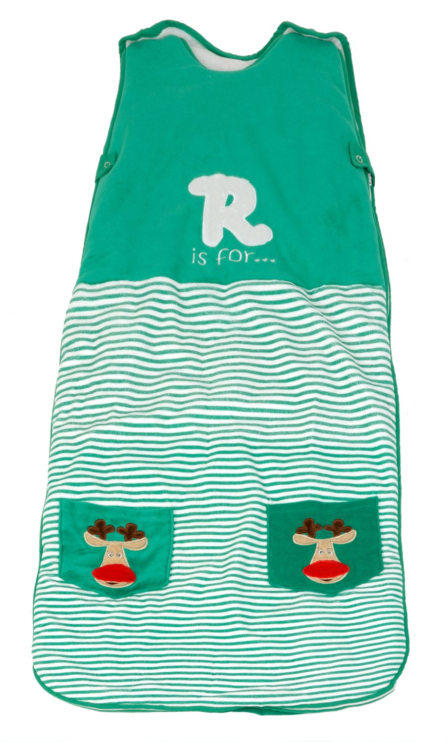 Black Friday-Cyber Monday Special - The Dream Bag Baby Sleeping Bag Velour Reindeer 6-18 Months 2.5 TOG - Green