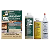 PC Products 240168 PC-Rot Terminator Two-Part Epoxy Wood Consolidant, 24 oz in Two Bottles, Amber