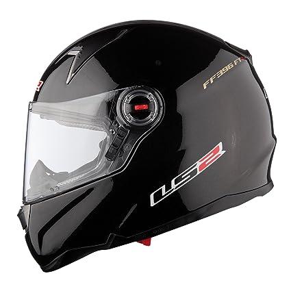 LS2 Ff396 pi2 brillant Mono seul casque de moto noir
