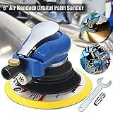 Jeteven 6-Inch Air Random Orbital Sander, Dual Action Speed Adjustable Pneumatic Polisher Pro Grinding Sanding Tools with Wrench (Color: Random Orbital Sander)